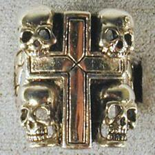 CROSS W SKULLS BIKER RINGS BR113 SKULL HEAVY JEWELRY bikers fashion jewelry