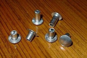 """Aluminium Rivets  Semi - Tubular Truss Head Rivets 3/16"""" dia  pack of 50"""