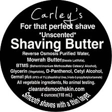 Shaving Butter for that perfect smooth shave. Stops Razor Burn & Prickly Skin