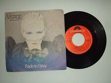 "Visage / Fade To Grey - Disco Vinile 45 Giri 7"" Stampa Italia 1980"