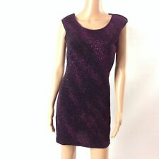 Forever 21 Womens Short Dress Stretch Scoop Neck Sleeveless Purple Size S F25