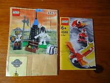 LEGO instructions (seulement) 4349 4817 et