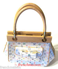 100% AUTHENTIC LOUIS VUITTON ABELIA Multicolor Murakami Satin Bag Handbag New