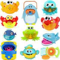 Bubble Machine Crab Frog Automatic Bubble Maker Blower Music Bath Toys Gift Baby