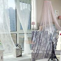 Leaf Floral Tulle Voile Home Door Window Curtain Drape Panel Sheer Scarf Valance