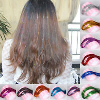 1 Pack Hair Tinsel Sparkle Holographic Color Glitter Extensions Highlights Party