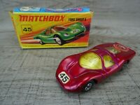 Vintage Lesney 1969 Ford Group 6 No 45 Matchbox Superfast Diecast Toy Car boxed