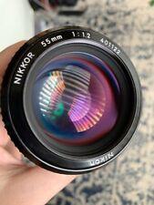 New listing Nikon Nikkor 55mm f1.2 Ai Lens