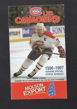 1996-97 MONTREAL CANADIENS POCKET SCHEDULE