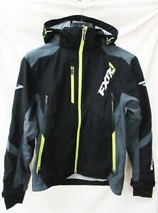 FXR Black/Charcoal/Hi-Vis Renegade Softshell Jacket-180907-1008-13 - LARGE