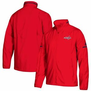 NWT adidas Washington Capitals Rink Full-Zip Jacket - Red-Choose Size