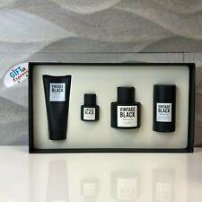 KENNETH COLE VINTAGE BLACK 4 PCS Gift Set(3.4 oz EDT+S Balm+Deo Stick+0.5 EDT)