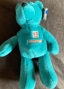 1998 Limited Treasures Premium Pro Bear Plush, Dan Marino, Miami Dolphins, #13