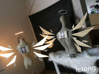 Top Anime Arknights Wing Led Light Cosplay Weapon Halloween Prop Cosplay Custom