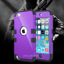 Tough Impact Heavy Duty Case for Apple iPod Touch 5 5th Gen 5G Cover - Purple