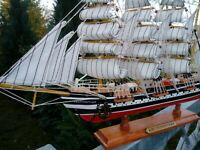 "Traditionssegler ""Kruzenshtern"" Modell Holz  viele kleinen Details 50x31x9cm"