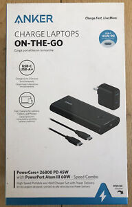 Anker Charge Laptops on the go B1376H11-1 PowerCore+ 26800 mAh - 45W/60W SEALED!
