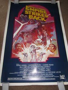 ORIGINAL > EMPIRE STRIKES BACK movie poster 40x60 1982 star wars