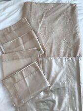 Marks And Spencer Gold Double Duvet Set With 4 Oxford Pillowcases