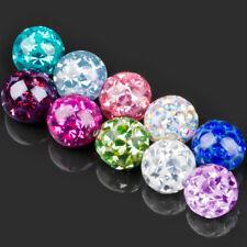 1,2 - 1,6mm Piercing Screw-Ball Epoxy Multi-Crystal Ferido Spare Ball Z255