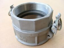 New Dixon D400 4 4 Inch Stainless Ss Female Boss Lock Cam Amp Groove Coupling
