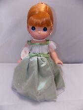 "Precious Moments 13"" Doll ""Prettiest one of All"" Redhead Girl Green Dress New"