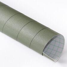 3x DIN A4 Wrapping Folie Diamant Glitzer Army Grün 21cm x 29,7cm Folie Luftkanäl