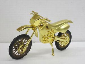 Feuerzeug Motocross-Maschine in gold, ohne OVP, Hersteller unbekannt, 18 cm lang