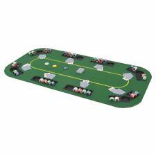 More details for vidaxl 8-player folding poker tabletop 4 fold rectangular green play card game