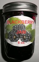 Fresh BLACKBERRY JAM 1/2 Pint (8 oz.) Organic, No Chemicals, FREE SHIPPING