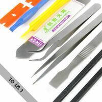 Cell Phone Repair Opening Pry Disassemble Tools Set Spudger Tweezer Kit 10 in 1