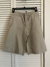 Gap Kids Boys Easy Fit Shorts Uniform School Khaki 100% Cotton Sz 14