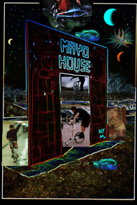 Glow Neon Mayo House 1995 sculpture Rochester MN NFT Art card created by ELY M.