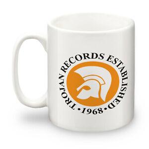 Trojan Records Logo Ceramic 10oz Mug. Mod, Northern Soul, Ska, Two-Tone