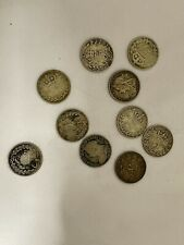 More details for bundle of silver 3 pence coins starting 1878 (nk6)