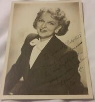 Vintage Old Photo of Actress ? LILLIAN LEIGH Signed Autograph 5x7 Photo