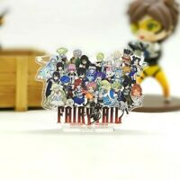 Anime FAIRY TAIL FIGURE MODEL ACRYLIC STAND DOUBLE SIDED DESK DISPLAY 7CM