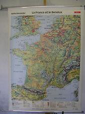 Murs carte belle vieille France carte 98x134c 1991 la France et le Benelux