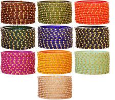 Indian Bollywood Glass Bangles Set Multi Bracelet Wedding Multi Color 12 Bangles