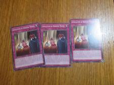 x3 Cartes Yu Gi Oh ! Annulation de dernière Minute SECE-FR069 TBE