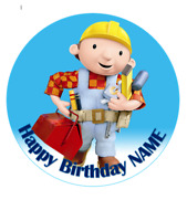 Bob the Builder personalised edible Image cake topper real edible icing 19cm#140