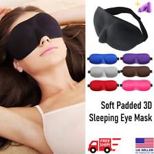 3D Eye Mask Sleep Soft Padded Shade Cover Travel Rest Relax Sleeping Blindfold