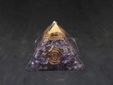 Orgonite Pyramid Amethyst: Cleanse Negative Energy