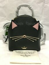 Kate Spade PXRU9427 Cat's Meow CAT BINX Mini Small Backpack Crossbody BLACK NWT