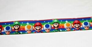 Mario Game  ribbon 25 mm (1 meter ) for cakes, crafts & bows