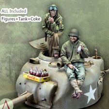 █ 1/35 Resin WWII US Tank Crew W/Coke & Tank unpainted unassembled BL256