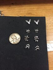 4 PAIR STERLING SILVER CHILD ADULT SMALL ANIMAL STUD PIERCED EARRINGS NWOT