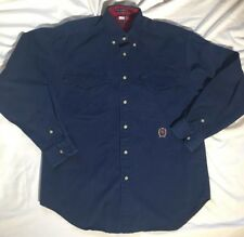 Vintage Tommy Hilfiger Men's Medium Long Sleeve Button Front Casual Dress Shirt
