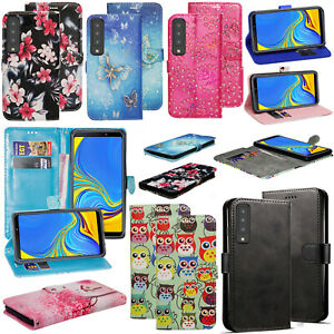 For Samsung Galaxy A7 2018 - PU Leather Wallet Stand Flip Phone Case Cover
