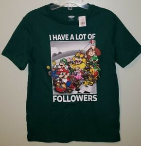 NEW Old Navy Boys SIZE 8 Short Sleeve MARIO KART Tee Green T-Shirt #25521